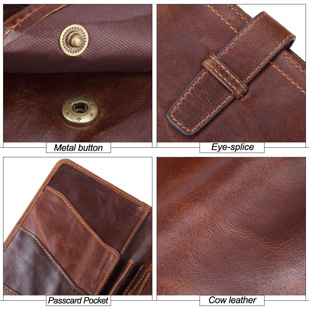 Купить с кэшбэком MISFITS Genuine Leather Men Clutch Wallet Long Brand Passport Wallets Thin Travel Purse With Card Holder Male Cell Phone Case