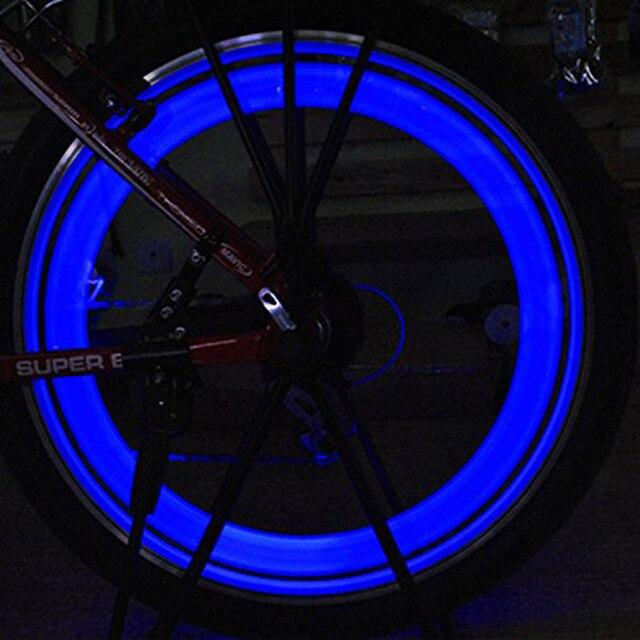 Nouveau 2 pièces en vogue vélo rayons lampe cyclisme vélo saule LED roue fil lumières magasin YS-BUY