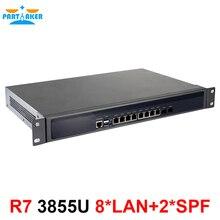 Причастником R7 сервер брандмауэра сети Celeron 3855U 2 Гб ОЗУ 32 Гб SSD с 8* Intel 82583 в гигабитный ethernet порты 2 SFP