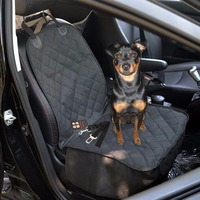 1 PC Front Seat Wear Waterproof Non Slip Mats Human Pet Dual Collapsible Dog Seat Cover