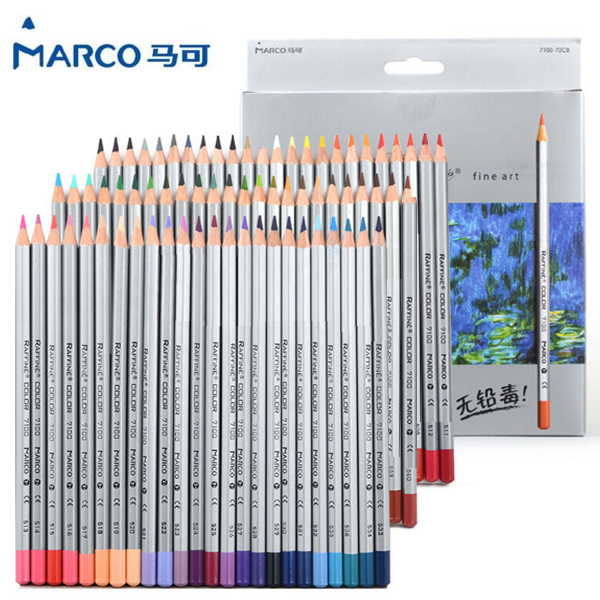 24/36/48/72 Colors Raffine Fine Art Non-toxic Color Pencil lapis de cor Professional Colored Pencils for School Supplies marco renoir 3220 black wood colored pencils 24 36 48 colors watercolor pencils set for drawing lapis professional art supplies