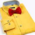 New Arrival men dress shirts High quality Tuxedo shirts male wedding bridegroom shirt fashion mens shirts