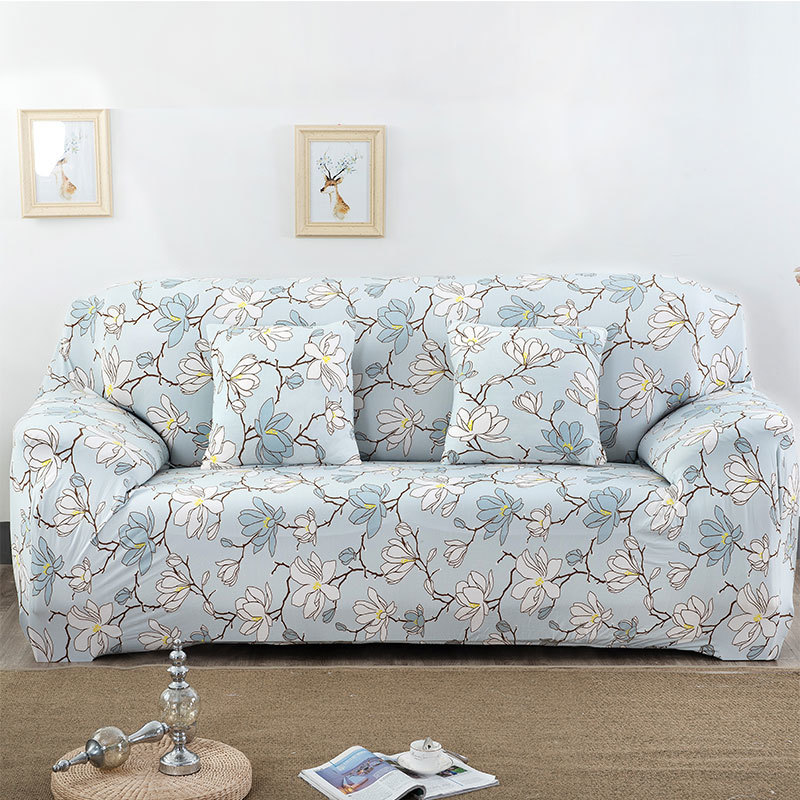 Elastic Sofa Cover Flower Slipcover Tight Wrap All-inclusive Slip-resistant Spandex Furniture Single/Two/Three/Four Seat 009