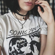 Sonic Youth Album Cover Unisex Vintage Rock t-shirt da Donna Grunge Vogue Magliette e camicette Magliette Corta A Maniche Lunghe Colletto Rotondo Divertente Maglietta Tumblr(China)