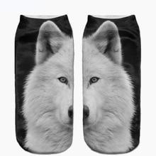 New arrival Snow White Samoyed Full Print Sock Women Men Low Cut Ankle