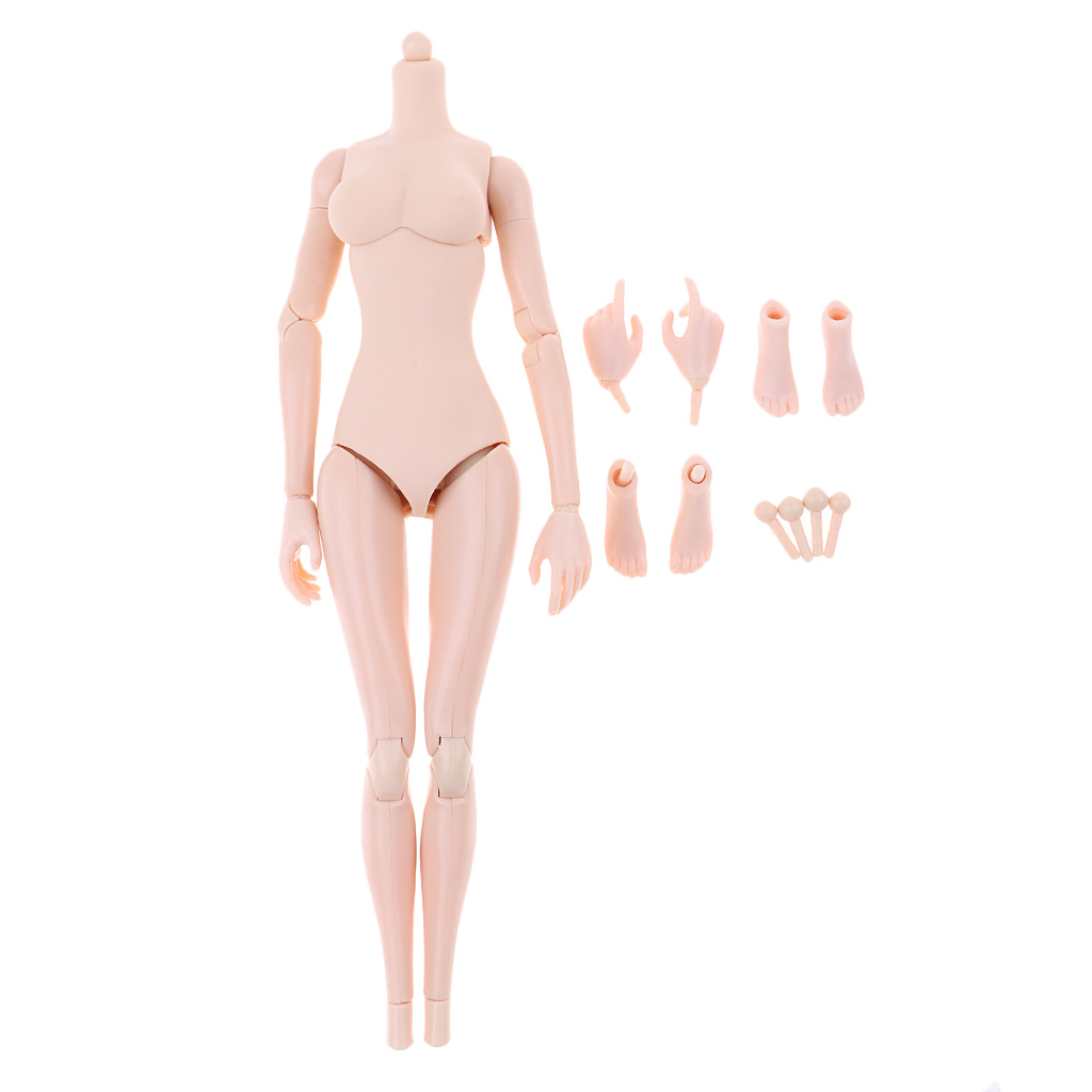 1/6 Scale Super-Flexible Female Seamless Body & Hand Models for 12'' Hot Toys/Phicen/Kumik Action Figure Soldier Doll Toys kumik 1 6 scale war brown horse model ac 10 fit for 12 soldier zc ttl phicen action figure doll toys