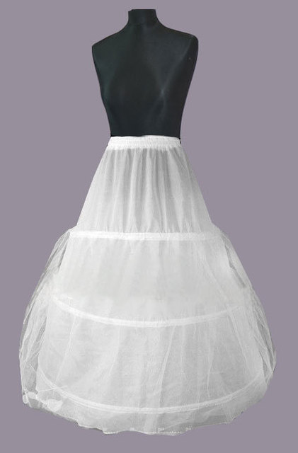 2016 New Underskirt Hot Sale 3 Hoop Ball Gown Bone Full Crinoline Petticoats For Wedding Dress