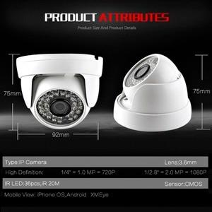 Image 4 - HD 720P 1080P IP كاميرا بشكل قبة الأشعة تحت الحمراء عدسة 3.6 مللي متر 2MP IP CCTV الأمن كاميرا مراقبة شبكة Onvif P2P أندرويد iOS XMEye P2P عرض