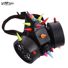 Mask-Accessories Respirator Spike-Masks Steampunk Cosplay Party Gothic for Rivets Colorful
