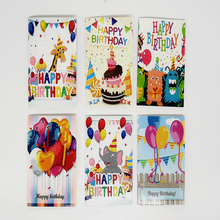 5D DIY Diamond Painnting Happy Birthday Cards Full Round Greeting Card Painting Kits Christmas