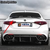Giulia Modified Clover Style Carbon Fiber Rear Trunk Lip Spoiler Car Wing For Alfa Romeo Giulia