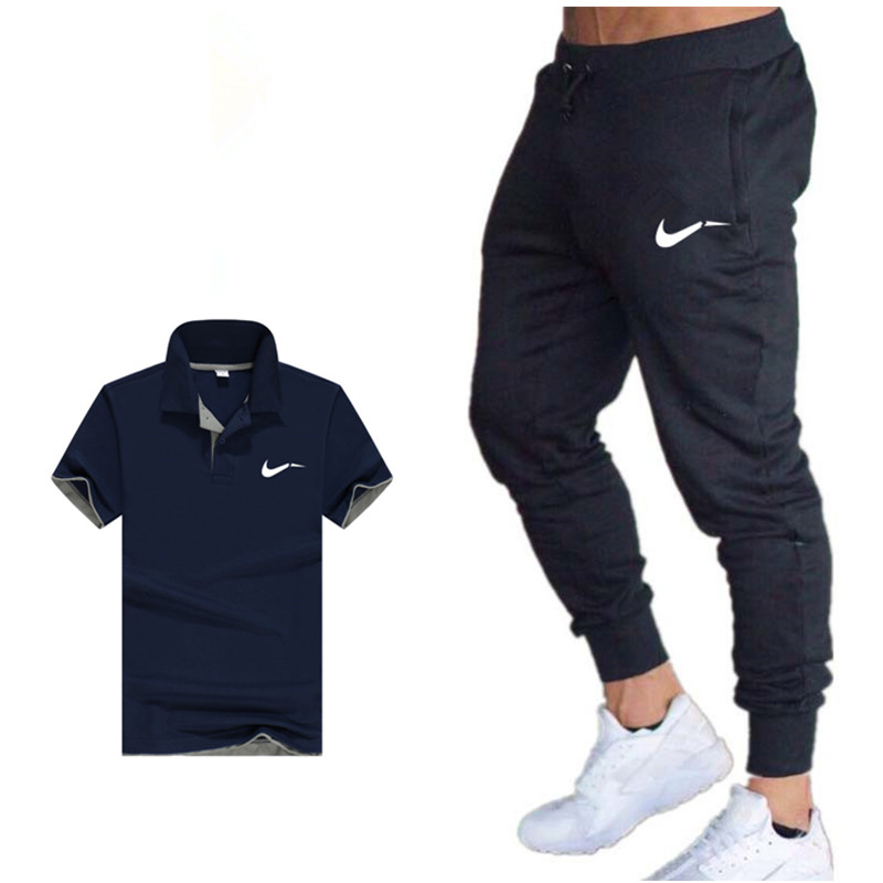 Classic brand Summer Hot Sale Men's Sets   polo   Shirts+pants Two Pieces Sets Casual Tracksuit Mens   polo   shirt Gyms Fitness suit