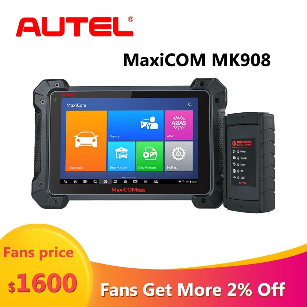 Autel MaxiCOM MK908 Car Diagnostic Tool Obd2 Auto Car Scanner Obd Code Reader Stethoscope Vag Com Bluetooth Wifi Scanner For Car