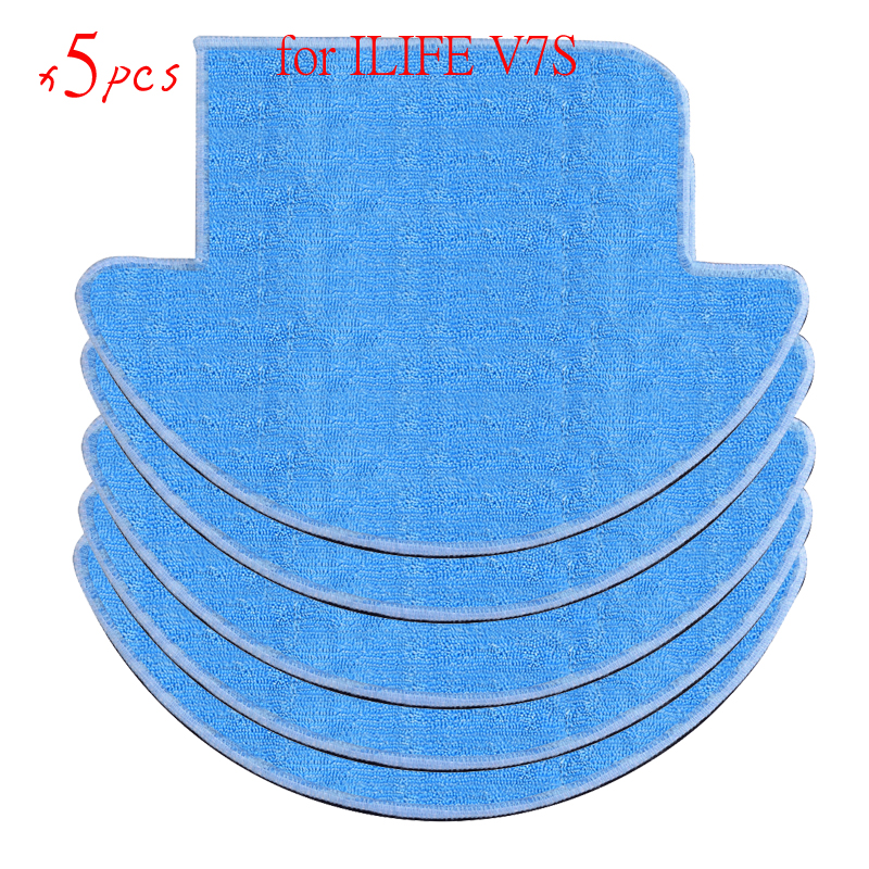 5 pcs/lot chuwi ilife Robot Vacuum Cleaner MOP Cloths for ILIFE V7S Replacement Mop Cleaning Robot Vacuum Cleaner Mop 12pcs lot high quality robot vacuum cleaner wet mop hobot168 188 window clean mop cloth weeper vacuum cleaner parts