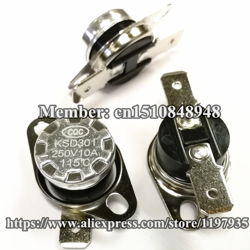 KSD301 Thermostat temperature switch 115 degrees  250V 10A