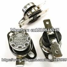 KSD301 Thermostat temperature switch 115 degrees  250V 10A  115 degrees цена и фото