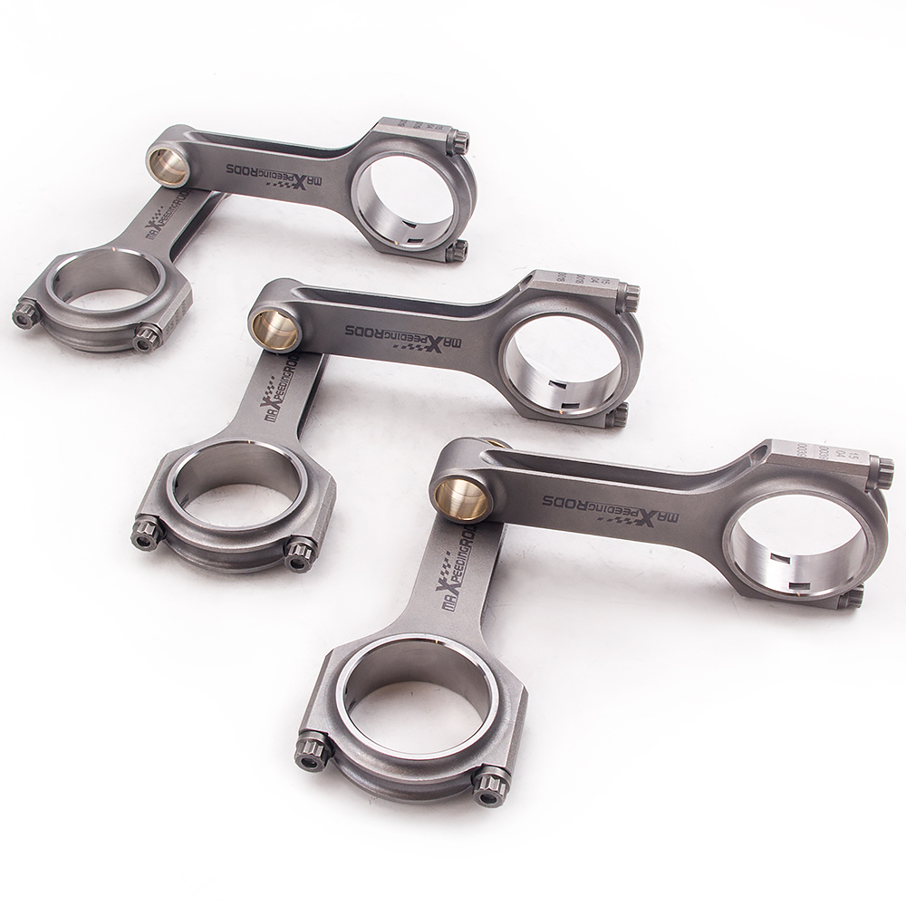 6x Connecting Rods for Toyota Supra JZA70 Mark II Crown 1JZ-GTE 1JZ-GE 125.25mm Floating Balanced Crankshaft Piston Pin EN24