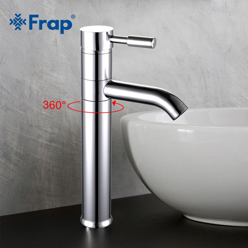 New Arrival Brass Basin Faucet Single Handle Crane Cold and Hot Water Mixer Waterfall Tap F1052-2