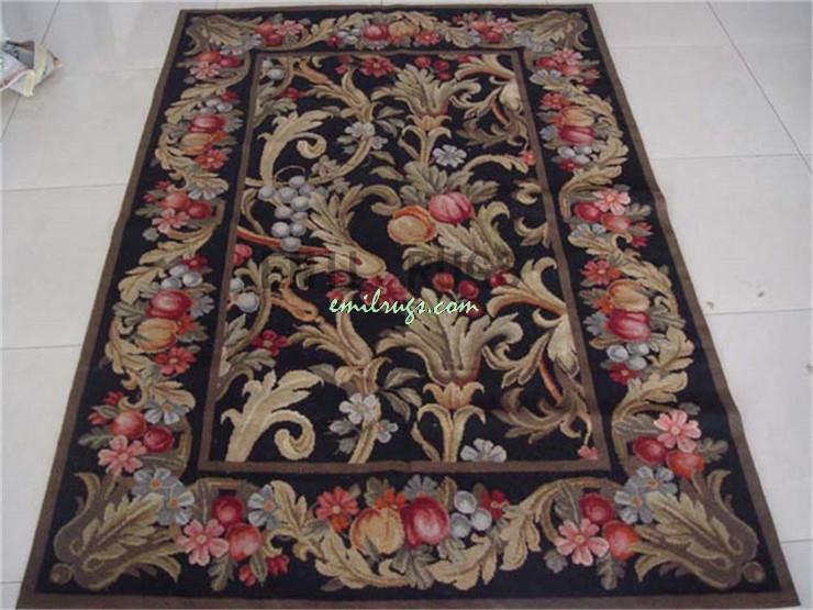 100 Wolle Handgenht Nadel Teppiche Needleopint 244 CM X 305 8