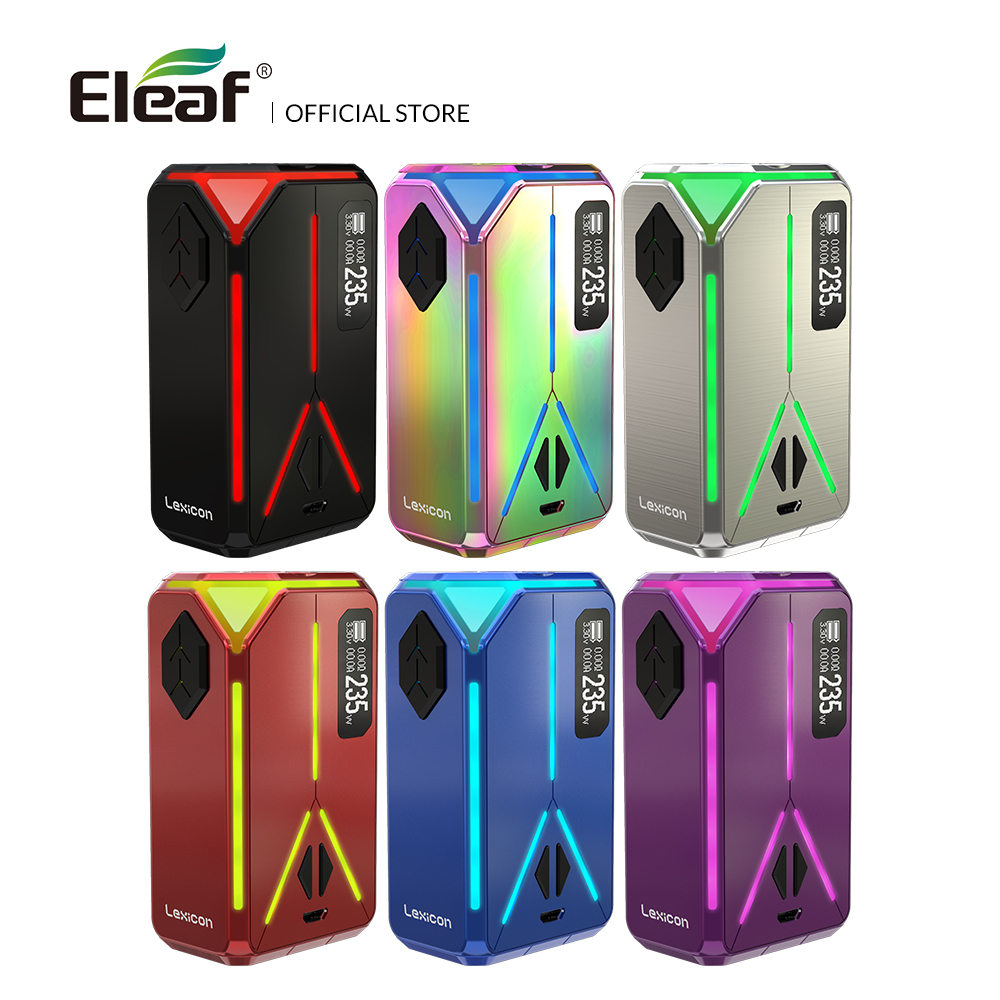 Original Eleaf Lexicon Mod 235W max Support ELLO Duro Atomizer 6.5ml Electronic Cigarette Vape