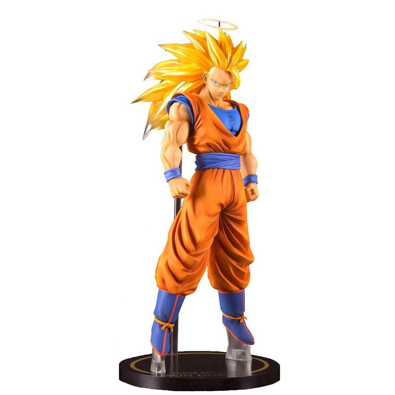 23CM Anime Dragon Ball Z Action Figure Goku Super Saiyan 3 Son Goku PVC Dragon Ball Z Action Figures Collectible Toy 1pc lot chocolate goku anime dragon ball z figure super saiyan pvc action figures brinquedos collectible model kids toys 29cm