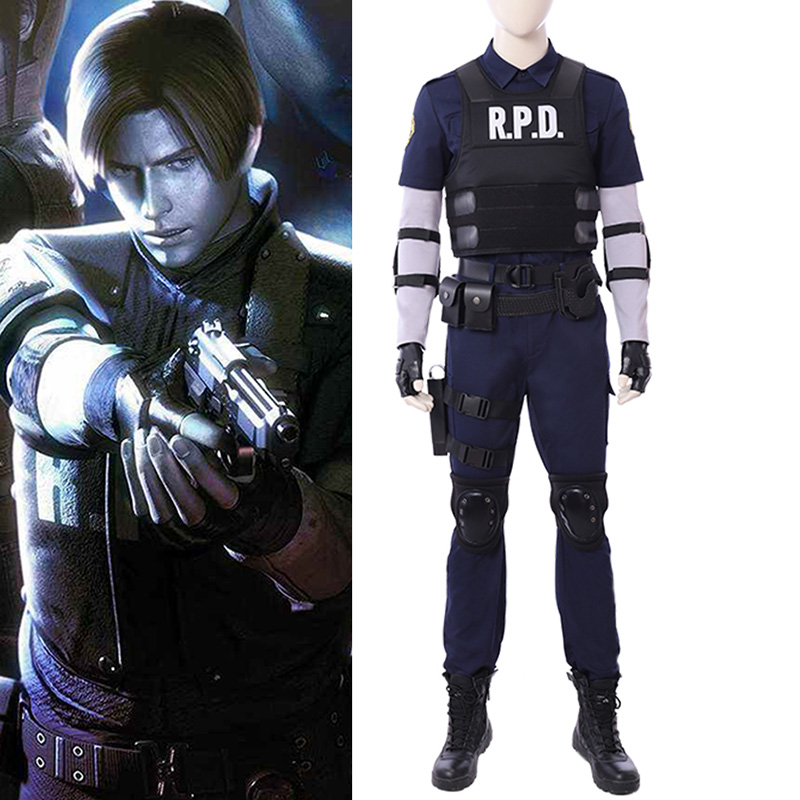 Game Resident Evil 2 Cosplay Remake Leon Scott Kennedy Costume