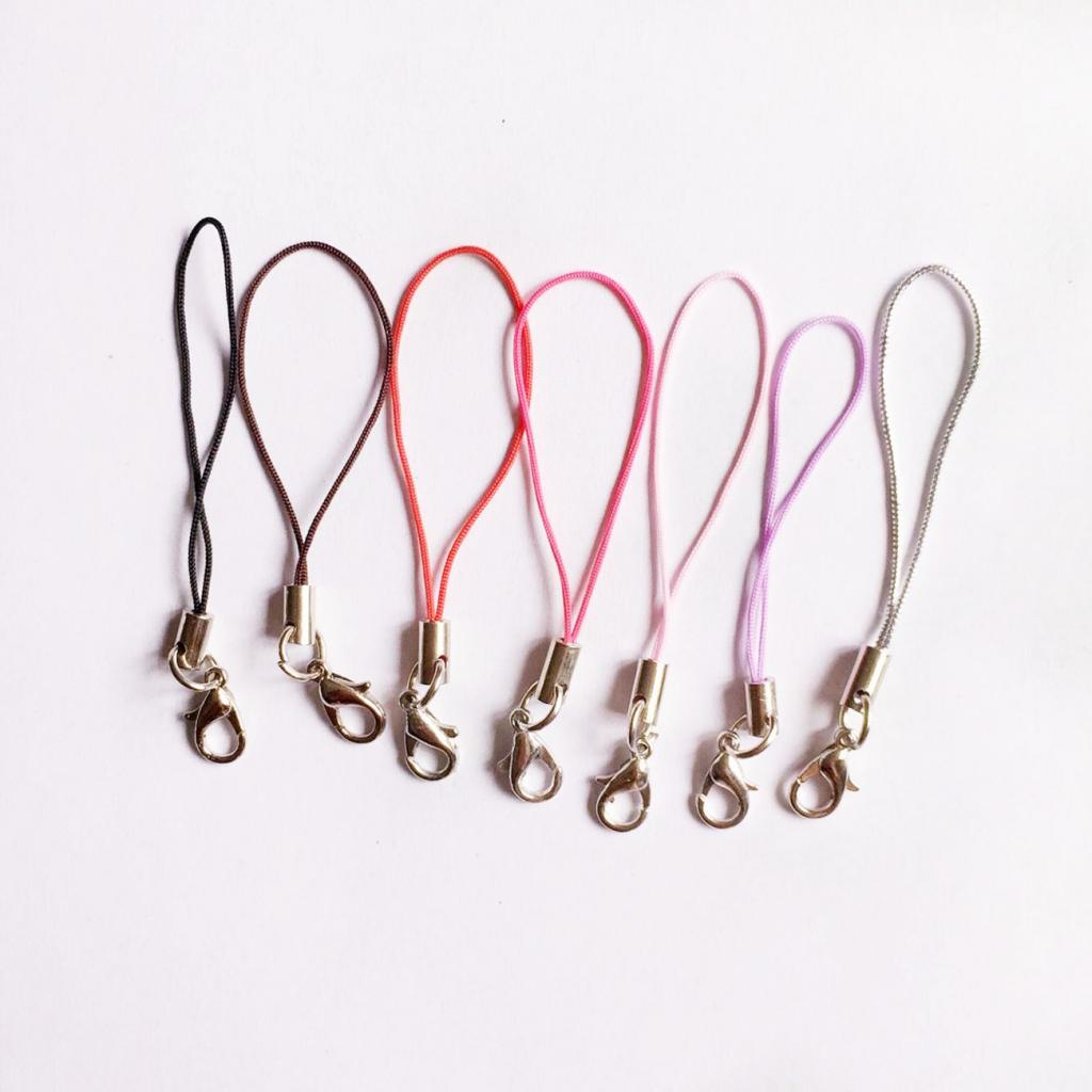 100pcs Cell Phone Straps Strings Lobster Clasp Cord Lanyard String  Rose Red