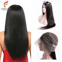 Straight 360 Lace Frontal Wig Pre Plucked With Baby Hair Brazilian Hair Lace Wigs Remy Natural Wig 10 26inch 130Density Fabeauty