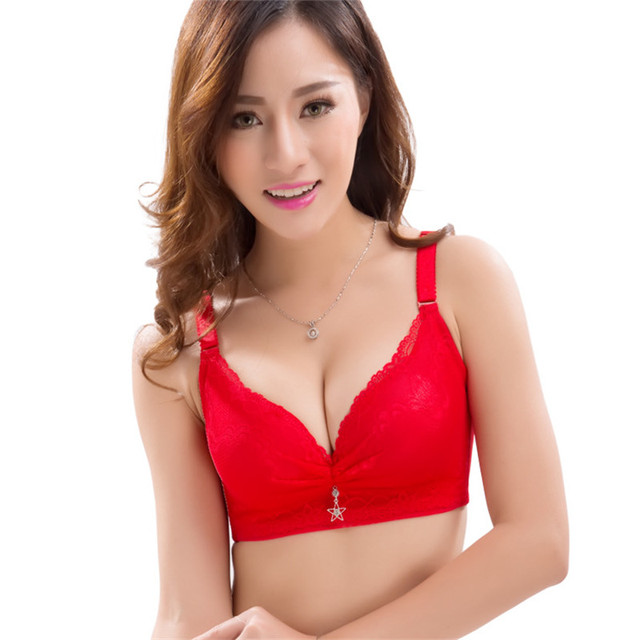 575969c4c21758 Sexy Women Bra Adjustable Brassiere Seamless Lingerie Super Push Up Bra 6  Color Plus Size B Cup Strappy Bras For Women