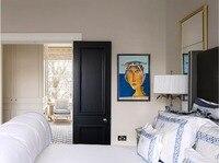 2017 hot sale highly durable shaker style solid wood door wooden interior door closet doors ID1606004
