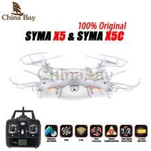 100% Original SYMA X5C (Versión de actualización) RC Drone Quadcopter 6-Axis Helicóptero de Control Remoto Con Cámara de 2MP HD o X5 Sin Cámara