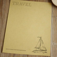 8pcs/lot 230*180mm/NEW Vintage Sailing Blank kraft paper series DIY Multifunction Kraft letter paper set nice Gift(China)