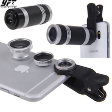 4in1 8X Telephoto Lens Optical Zoom Lenses Mobile Phone Came