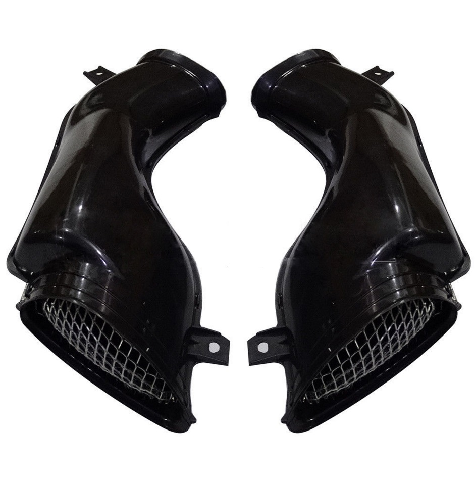 One Pair Air Intake Tube Duct Cover Fairing For SUZUKI GSXR 600/750/1000 00-03 k1 Black epman universal 3 aluminium air filter turbo intake intercooler piping cold pipe ep af1022 af