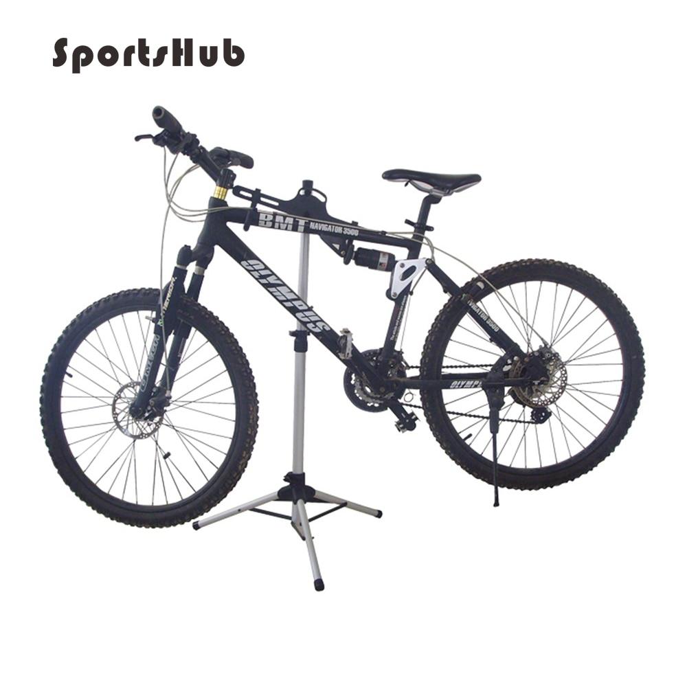 SPORTSHUB 70-132CM Aluminum Bicycle Parking Racks Bike Display Stand Kickstand Repair Rack Holder Folding Bike Staging C0038