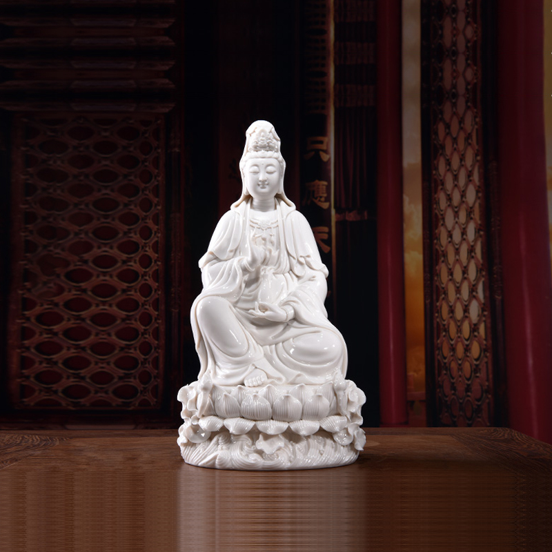Car decoration decoration ceramic Buddha white porcelain