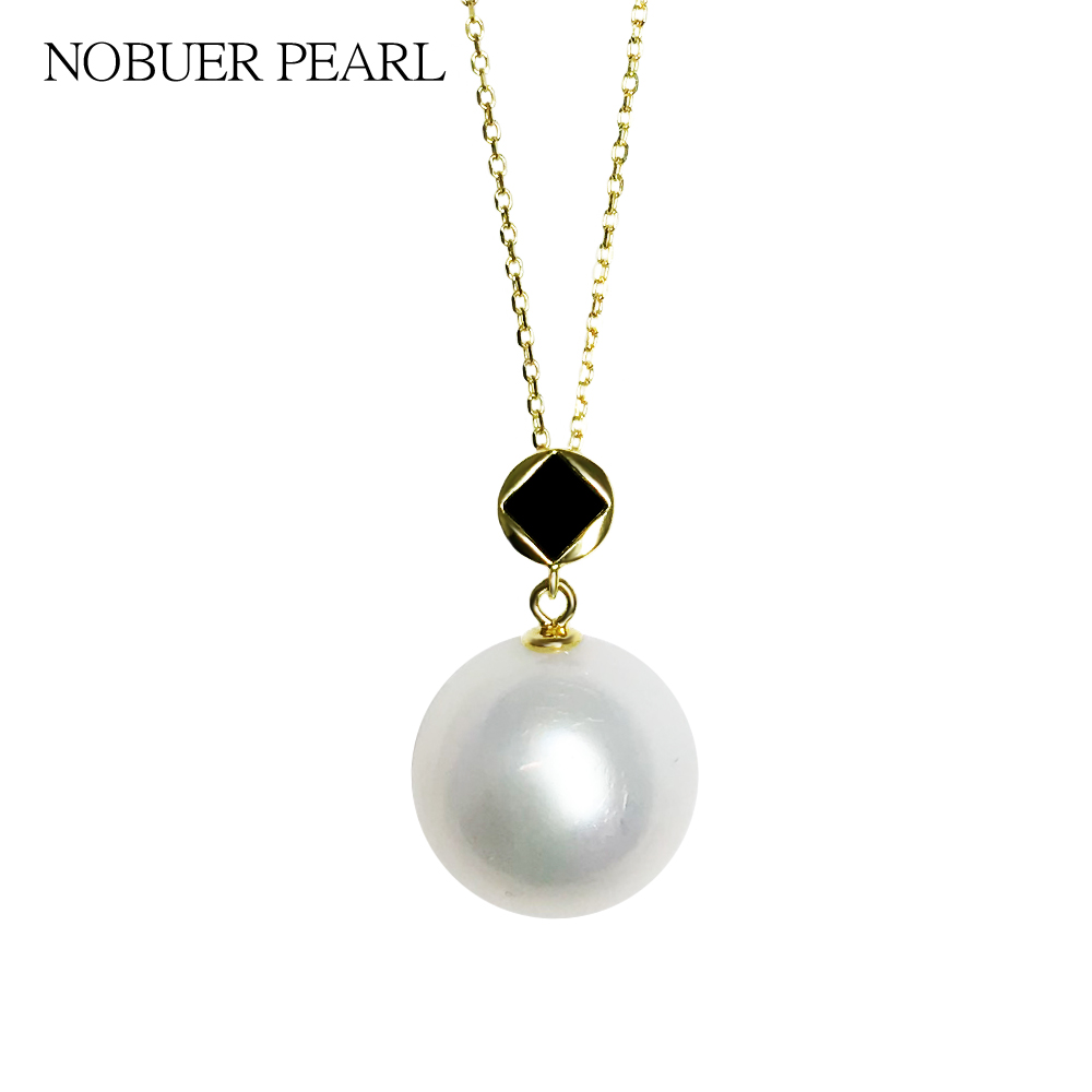 Nobuer Sea Horse Pearl Pendants Necklace 925 Sterling Silver Necklace With Hemisphere Real Sea Horse Pearl 2 Styles Pendants