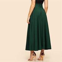 Maxi falda vintage verde 1