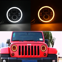 7 Inch Round H4 LED Daymaker Projector Headlights For Jeep Wrangler Lada Niva 4x4 Hummer H1