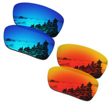 e7b7370d68e9b SmartVLT 2 Pairs Polarized Sunglasses Replacement Lenses for Oakley Si  Ballistic Det Cord Ice Blue and Fire Red