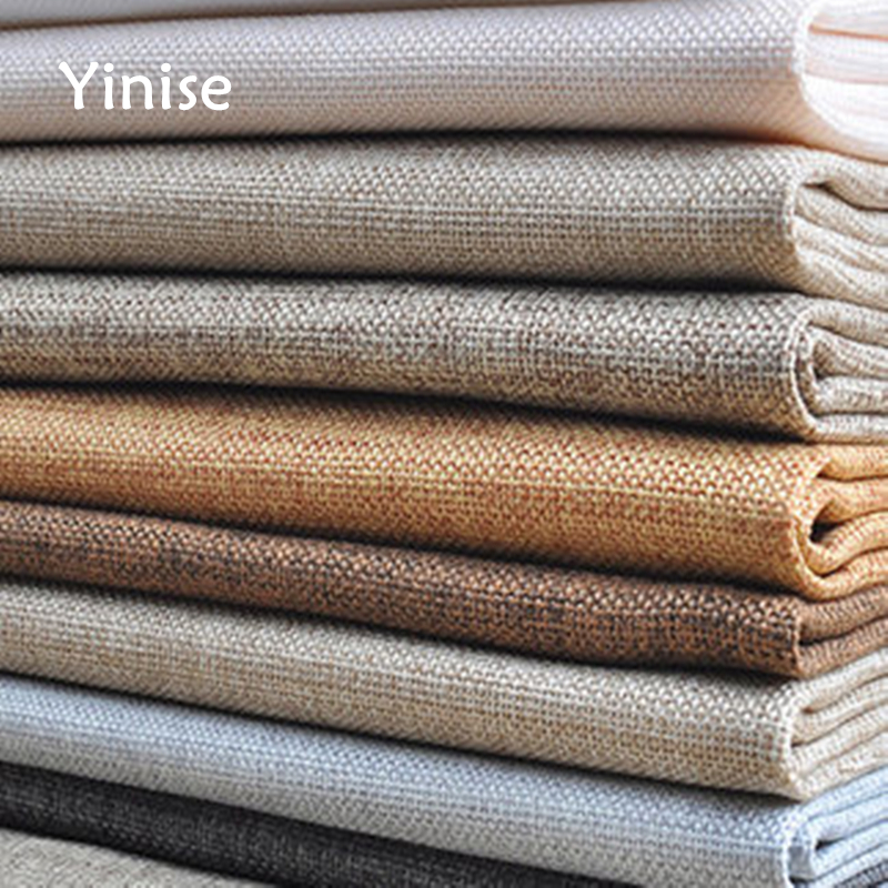 100x150cm Linen Cotton Fabric For Patchwork Quilting Thick Linen Cloth For Sofa Material DIY Curtain Canvas Cushion Tablecloth in Fabric from Home Garden