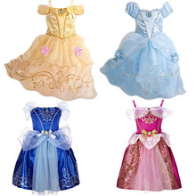 Di Estate delle ragazze Dei Vestiti Dei Bambini Cinderella Neve Bianco del  Costume di Cosplay Del 002663907b6e