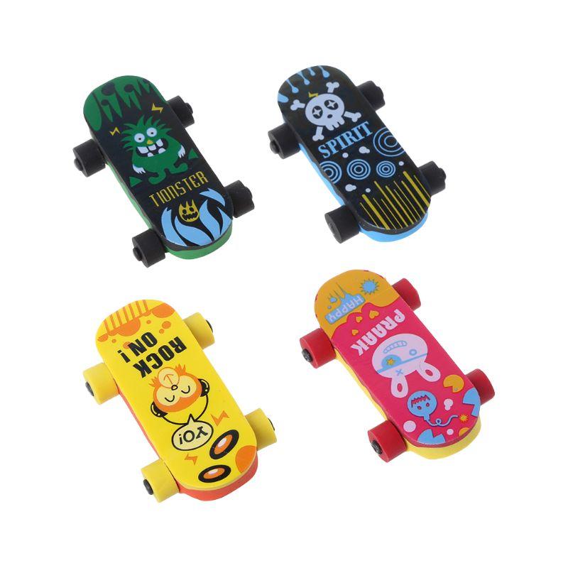 2 Stücke Kreative Skateboard Radiergummi Bleistift Gummi Reiniger Stationäre Versorgung Kinder Geschenk Spielzeug KöStlich Im Geschmack