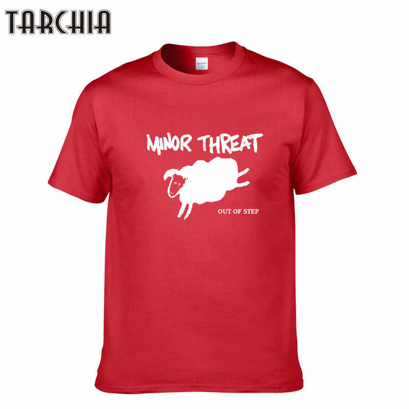 TARCHIA 2019 New Fashion Sheep MINOR THREAT Print T Shirts Men O Neck Short Sleeve Cotton Mens T-Shirt Cotton Tees Tops Homme