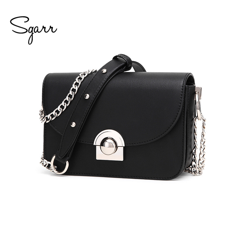 SGARR Fashion PU Leather Women Bags For Women Messenger Bags Famous Brands Chain Shoulder Bag High Quality Ladies Crossbody Bag 2017 fashion all match retro split leather women bag top grade small shoulder bags multilayer mini chain women messenger bags