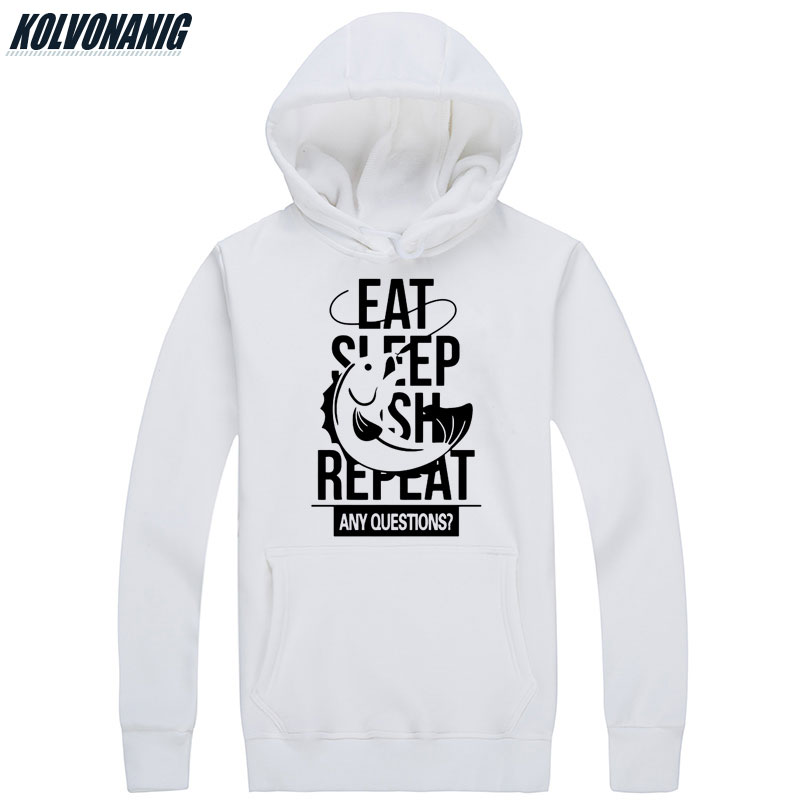 Men 39 s Winter Gift For Fisherman Hoody EAT SLEEP FISH Printed Sweatshirts Men Fitness Warm Oversized Hoodies With Hat Pullover in Hoodies amp Sweatshirts from Men 39 s Clothing