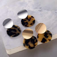 IPARAM Vintage Runde Acryl Leopard Tropfen Ohrringe für Frauen Böhmischen Gold Silber Geometrische Ohrringe boucle d'oreille femme 2019