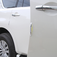 Car Styling Door Guard Corner Bumper Strip Protection Trim Stickers For Nissan Patrol 2017 4Pcs Set