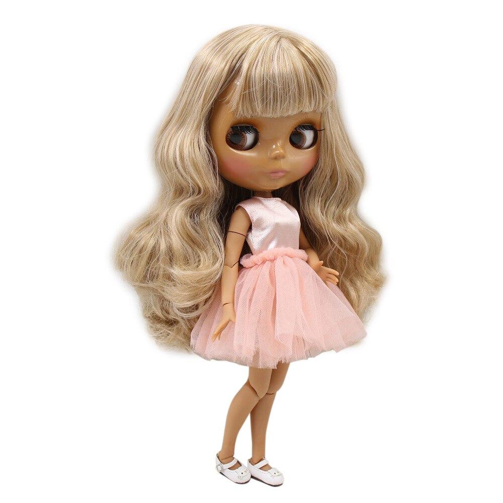 Factory blyth doll 230BL10599400 dark skin joint body mix hair 1/6 30cm
