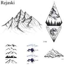 Женские и мужские водостойкие татуировки Rejaski, черные наклейки для Временной Татуировки на руку, лето, 3D